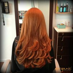 RED HAIR. Check out this beautiful red hair color from Organic Hair Colorist, Shai Amiel of Capella Salon! All shine and no damage is the ammonia-free way! :)