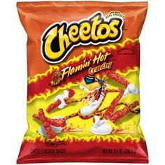 Cheetos Crunchy Flamin Hot Cheese Flavored Snacks oz Bag:Made with real cheeseCheetos snacks feature a delicious flamin hot flavorLarge bag is ideal for sharingContains only 160 calories per servingServing size is 1 oz - Snacks - Ideas of Snacks Bag Of Cheetos, Cheetos Crunchy, Cheetos Flavors, Milk Shakes, Fini Tubes, Biscuits, Milk Ingredients, Cheese Puffs, Cheese Snacks