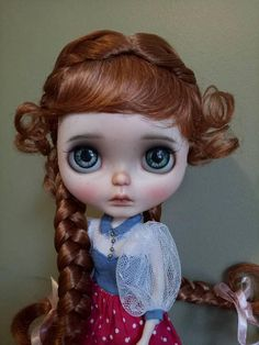 Blythe 10-11 Double French Braids Wig