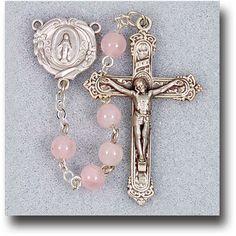 Regina's Catholic Gifts - Genuine Gem Stone 6 mm Rose Quartze Rosary, $33.95 (http://www.reginascatholicgifts.com/genuine-gem-stone-6-mm-rose-quartze-rosary/)