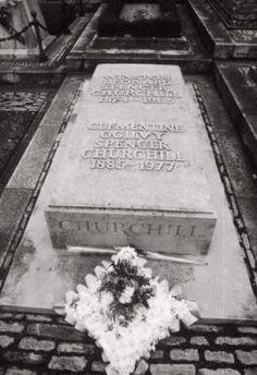 Winston Churchill, St Martin's Church, Bladon, Oxfordshire, UK