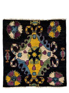 """Darya Rugs Kaitag Oriental Rug, Black, 4' x 3' 10"""" $392.00"""