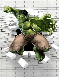 #Hulk #Fan #Art. (The-Hulk-Classical-Stylish-Custom-Fashion-Tatoo-On-Wall-Poster) By: AliExpress. ÅWESOMENESS!!!™ ÅÅÅ+ Hulk Marvel, Marvel Comics Superheroes, Marvel Heroes, Hulk Comic, Hulk Png, Hulk Party, Break Wall, Marvel Tattoos, Red Hulk