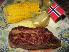 Venison T got, that I cooked with corn on the cob, etc.