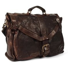 Campomaggi has a patented method of creating his unique leather bags and briefcases, they're treated after they're constructed giving them a...