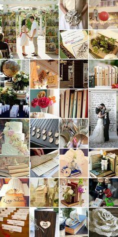 Book wedding theme...Courtesy of The Bridal Dish