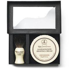 Pure Badger luxury shaving brush and cream gift set