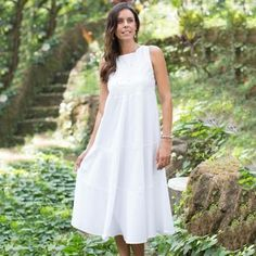 Shop for Cotton 'Cool White' Sundress (Indonesia). Get free shipping at Overstock.com - Your Online Clothing, Shoes