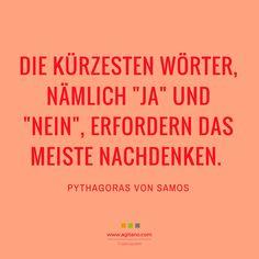 Pythagoras Von Samos: Die Kürzesten Wörter, Nämlichu2026