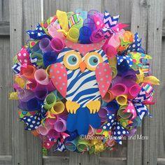 Owl Wreath Summer Wreath