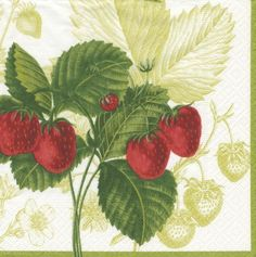 Entertaining with Caspari Les Fruits Rouge Paper Luncheon Napkins, Pack of 20 by Caspari. $7.35. Pack of 20 paper Luncheon napkins, printed in Germany. Les fruits rouge strawberry pattern reproduced from original print from the new york botanical garden. 20-pack paper lunch napkins by caspari. Each individually folded Luncheon napkin measures 6-1/2-inches square and opens to 13-inches square, pack comes wrapped in cellophane. Add beauty to every part of your life with Caspari...