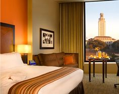 #Hotel rooms in #Austin, #Texas. Located on the university campus, a short distance from downtown.