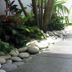large white garden pebbles - Google Search
