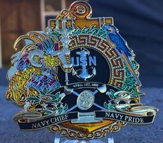 "Chief Petty Officer (CPO) Challenge coin ""4th FLEET!"""
