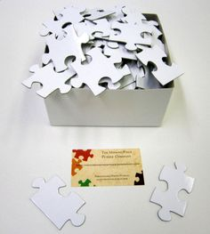 Unique Wedding Guestbook with White Puzzle by themissingpiecepuzzl