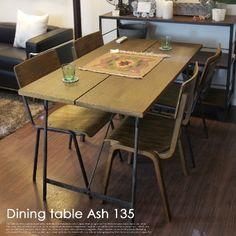 【楽天市場】レトロ感漂うダイニングテーブル! ヴィンテージ ダイニングテーブル アッシュ 135(Vintage Dining Table Ash 135) 送料無料:家具・インテリア・雑貨 ビカーサ