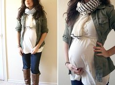 Dressing the bump: Lots of ideas for making your regular clothes work during pregnancy-this girl is so cute and has great ideas for maternity wear! Next pregnancy. Maternity Wear, Maternity Fashion, Maternity Style, Maternity Clothing, 2nd Trimester, Pregnancy Outfits, Pregnancy Style, Pregnancy Fashion, Fashionable Pregnancy