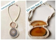 Anthropologie-inspired necklace tutorial from flat cut polished stones.      http://www.craftster.org/forum/index.php?topic=384669.0
