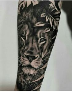 Leading Tattoo Magazine & Database, Featuring best tattoo Designs & Ideas from around the world. At TattooViral we connects the worlds best tattoo artists and fans to find the Best Tattoo Designs, Quotes, Inspirations and Ideas for women, men and couples. Lion Forearm Tattoos, Leo Tattoos, Badass Tattoos, Future Tattoos, Animal Tattoos, Body Art Tattoos, Tattoos Skull, Lion Tattoo Sleeves, Sleeve Tattoos