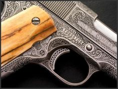 Engraved Colt 1911 45, Reigel Gun Engraving
