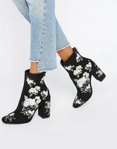 Miss Selfridge | Miss Selfridge Embroidered Boot at ASOS