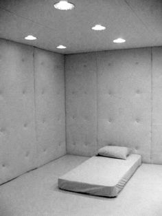 The episode begins with Clarke in a white room with security camera. She seems confused on to what is happening and why she is there. Mental Asylum, Insane Asylum, Psychiatric Hospital, Hospital Room, Interior Exterior, Floor Chair, Medical, Decoration, House