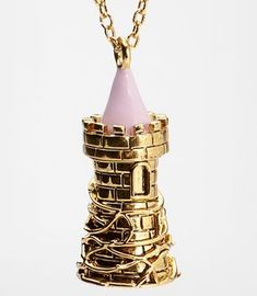 Disney Couture Perfume Vial Tower Necklace, This is super cute I like the detailed vines! Disney Necklace, Disney Jewelry, Cute Jewelry, Jewelry Art, Jewelry Accessories, Disney Perfume, Couture Perfume, Disney Couture, Estilo Disney