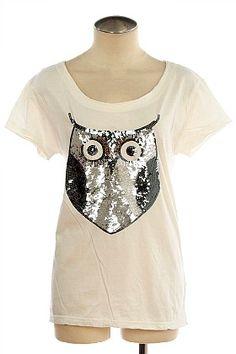Sequin owl shirt!