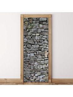 Rock Wall Patterned Door Art Stickers Door Stickers, Wall Decor Stickers, Decals, Cheap Doors, Vinyl Doors, White Wall Decor, Rock Wall, Wall Patterns, Cool Walls