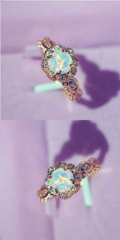 Jewelry Making For Profit Beautiful opal rose gold ring! Jewelry Making For Profit Beautiful opal rose gold ring! Morganite Engagement, Rose Gold Engagement, Diamond Wedding Rings, Bridal Rings, Wedding Jewelry, Gold Jewelry, Fine Jewelry, Wedding Engagement, Jewelry Rings