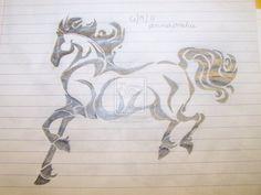 Horse Tattoo by ~AnnaBug95 on deviantART
