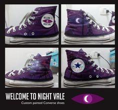 Night Vale Converse Shoes [custom painted] by elveleven.deviantart.com on @deviantART