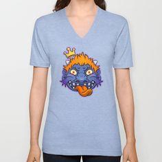 purple oni king Unisex V-Neck