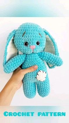 Crochet animals 278378820703980183 - Bunny toy CROCHET PATTERN – Amigurumi pattern rabbit – Crochet toy pattern – Crochet amigurumi cute toy – Pdf Plush tutorial – Knitted toy Source by fiona_dolls Crochet Bobble, Crochet Bunny Pattern, Crochet Animal Patterns, Crochet Patterns Amigurumi, Amigurumi Toys, Crochet Dolls, Crochet Rabbit, Knitting Patterns, Knitting Toys