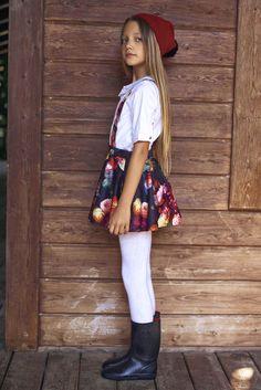 Girls Designer Clothes UK | Pretty Girls Dresses | TUTA KIDS  #kidsfashion #girl #girlswear #kidsclothing #floral #dungarees cool #shirt #tights #skirt #boots