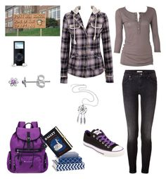 """""""A day without him! Eve Swan!"""" by selenerose-328 ❤ liked on Polyvore featuring Agent Ninetynine, Mapleton Drive, Burberry, Sherpani, Olympia Le-Tan, Converse and Itsy Bitsy"""