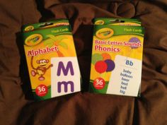 "2 Pkgs Crayola Educational Flash Cards~ ""Alphabet Phonics/Letter Sounds""  (Ages 4+/Some ESL) 