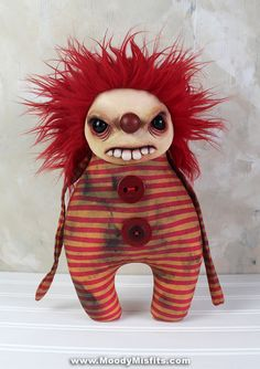 View our latest creepy dolls for sale. Gothic dolls and monsters, scary art, ooak dolls and creepy sculptures! Each handmade by Moody Misfits. Creepy Dolls For Sale, Scary Dolls, Creepy Clown, Creepy Home Decor, Ventriloquist Doll, Creepy Horror, Gothic Horror, Creepy Carnival, Monster Dolls