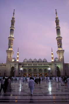Masjid Nabawi. Medina, Saudi Arabia. I love Mosques because they exude a mystifying and powerful spiritual force force through their architecture and design, truly capturing the absolute devotion and spirituality of the people who built them.
