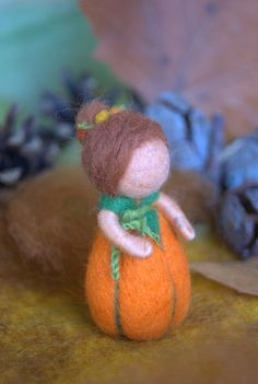 Little pumpkin baby  Waldorf inspired needle von byNaturechild, $20,00