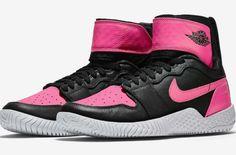 http://SneakersCartel.com Official Images Of The NikeCourt WMNS Flare AJ1 Black/Hyper Pink #sneakers #shoes #kicks #jordan #lebron #nba #nike #adidas #reebok #airjordan #sneakerhead #fashion #sneakerscartel