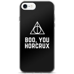 Boo You Horcrux Magic Curse iPhone 7/7 Plus Case (29 CAD) ❤ liked on Polyvore featuring accessories and tech accessories