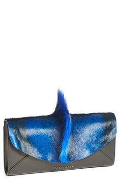 Ted Baker London Genuine Springbok Fur & Leather Clutch available at #Nordstrom