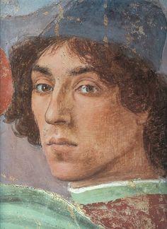 """Filippino Lippi - autoportrait - Détail de """"Dispute avec Simon le magicien"""" (1481/82)"""
