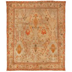 Antique Oushak Rug (Turkish) from Woven Accents Textiles, Woven Rug, Floor Rugs, Persian Rug, Decoration, Rugs On Carpet, Tapestry, Oushak Rugs, Antiques