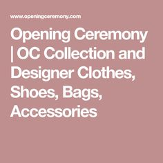 Opening Ceremony | OC Collection and Designer Clothes, Shoes, Bags, Accessories