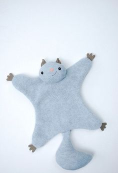 Flying Squirrel Complete with tutorial.  I'm gonna put squeakers in the arms and legs to make it a dog toy!!