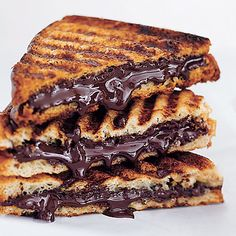 Chocolate Panini - Look at all that yummy dripping chocolate!