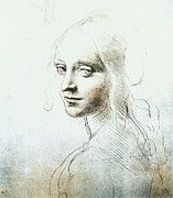 "New artwork for sale! - "" Leonardo Da Vinci - Head Of A Girl by Leonardo da Vinci "" - http://ift.tt/2myBhlZ"