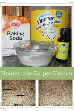 Have a stain in your carpet that won't come out? Here is a great NATURAL recipe that actually works!